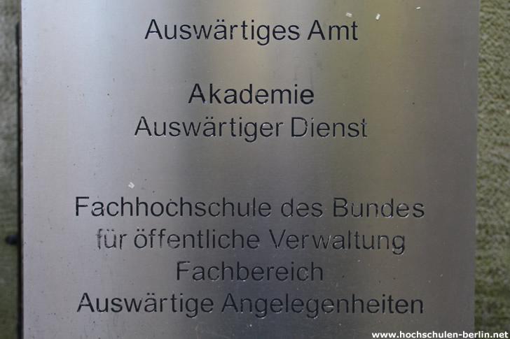 Fachhochschule des Bundes - Akademie Auswärtiger Dienst