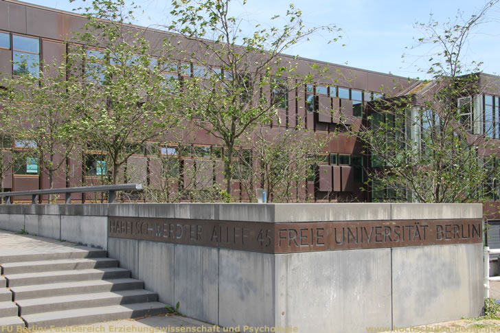 FU Berlin: Fachbereich Erziehungswissenschaft und Psychologie