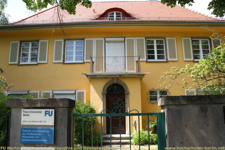 FU Berlin: Fachbereich Philosophie und Geisteswissenschaften